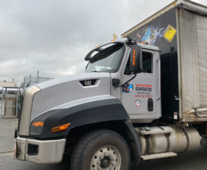 Caterpillar-CT660-Truck-Cab-Gloss-White-Colour-Change-Full-Wrap-with-Decal-Overlays-