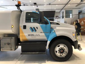 Ford F-750 - Custom Print Partial Cab Wrap After
