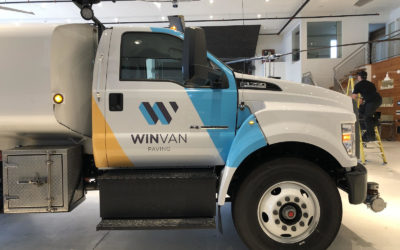 Ford F-750 – Custom Print Partial Cab Wrap