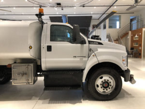 Ford F-750 - Custom Print Partial Cab Wrap Before