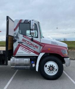 HINO-338-Truck-Cab-Custom-Print-Partial-Wrap