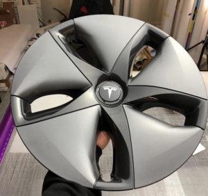 Tesla Model 3 - Custom Star Wars Print Wheel Wraps Before