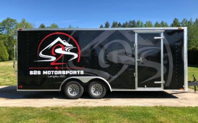 Toy-hauler Trailer – Removal and Custom Print Full Wrap