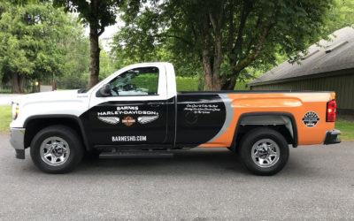 GMC Sierra – Custom Print Partial Wrap