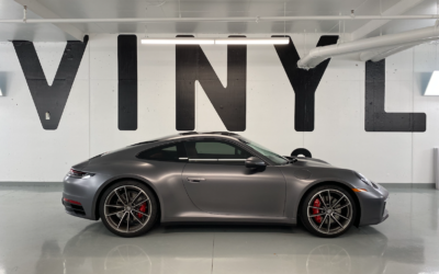 Porsche 911 Carrera 4S 992 Satin Dark Grey Colour Change Full Wrap